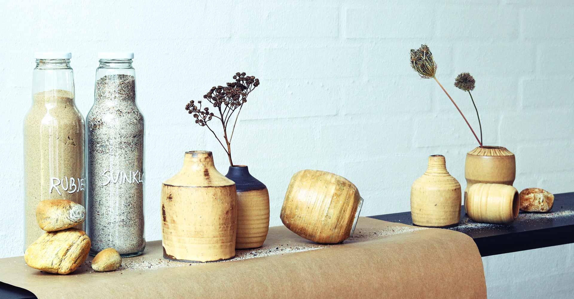 handmade ceramik vases and cups