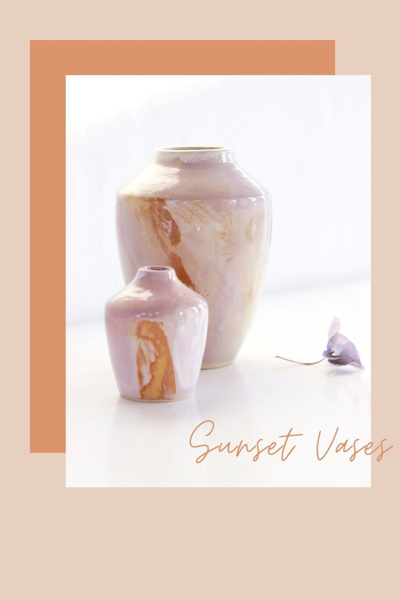 Sunset vases