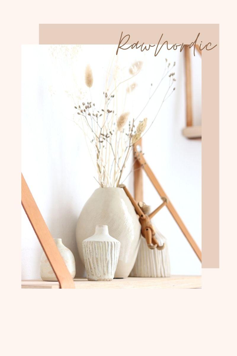 Wheel thrown Nordic vases